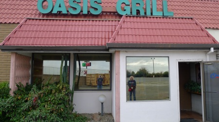 At the Oasis Grill, just north of Woodland, one of the best breakfast places we have ever been to