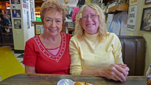 Dee Dee and Peggy Sue at Peggy Sue's 50's Diner, near Yermo, CA