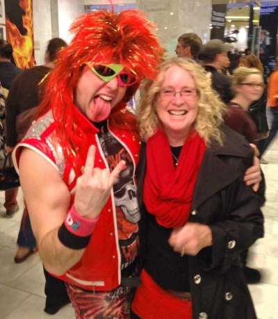Dee Dee with a Rocker after the seeing 'Rock of Ages' in Las Vegas
