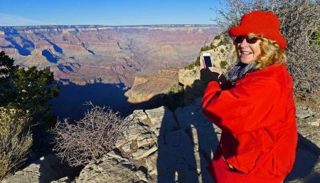 Dee Dee in RED jacket, Yaki Point