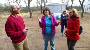 Gary, Dee Dee and Debbie with our very knowledgeable bird tour guide at the Oasis Bird Sanctuary north of Benson, Arizona.  She knew the name of almost every one of the 850-plus birds located there.  No kidding.