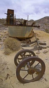Old mining equipment at the abandoned Inyo Mine, Echo Canyon Road