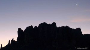 Sunrise silhouettes Superstition Mountain, Lost Dutchman State Park, Arizona