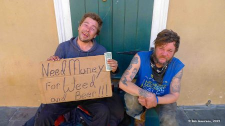 Two really honest, friendly, guys mooching for bucks, French Quarter