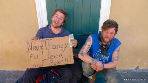 Two really honest, friendly, guys mooching for bucks, French Quarter