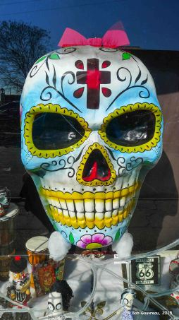 Big mask, Voodoo shop in the French Quarter