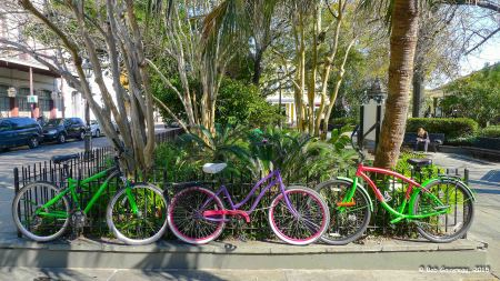 Bicycles, near Jackson Square, French Quarter