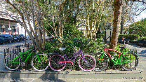 Bicycles, near Jackson Square, French Quarter, New Orleans, Louisiana