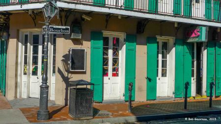 Corner on Bourbon Street, French Quarter