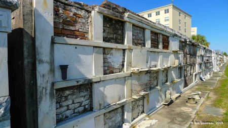 View of wall tombs, St. Louis Cemetery #3, New Orleans