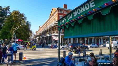 Café Du Mond; looking towards the French Quarter