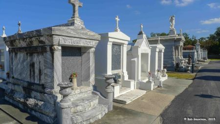 View of family tombs, St. Louis Cemetery #3, New Orleans
