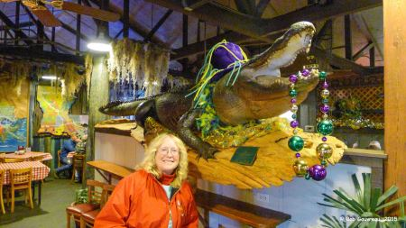 Dee Dee and 'Big Al' the Gator, Prelean's Cajun Restaurant, Lafayette, LA.