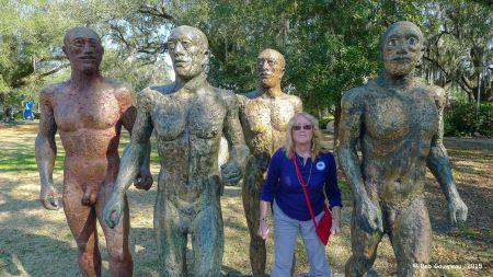 Dee Dee and The Boyz, Sculpture Garden, City Park, New Orleans