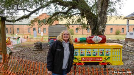 Dee Dee at the Tobasco manufacturing facility, Avery Island, LA