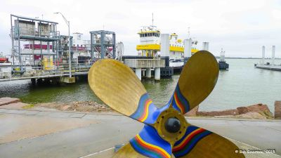 Prop and ferry dock, Galveston Island, Texas