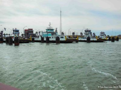 Ferry docks, Mustang Island, texas
