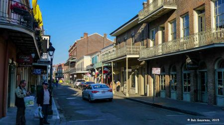 View of street in the French Quarter