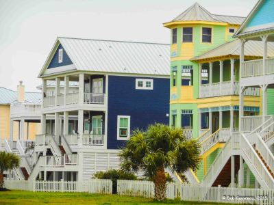 Houses, Galveston Island, Texas