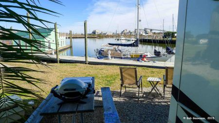 The view from our site, Lake Ponchartrain RV Park, New Orleans, LA
