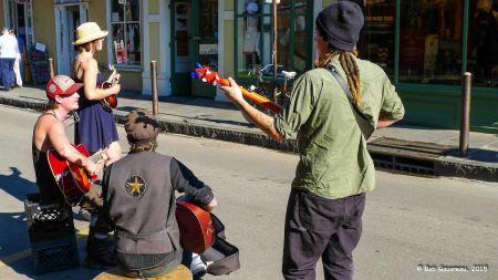 Street musicians, Bourbon Street