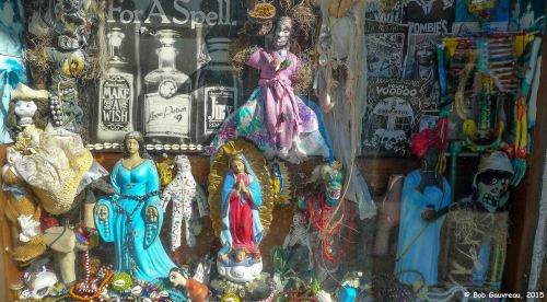 Voodoo shop window, French Quarter, New Orleans, Louisiana