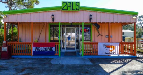 2 Al's diner, near Carrabelle, FL.  Florida funky with great, and cheap, food.  Very cool place.