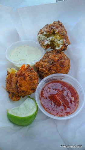 Conch fritters, Key West, Florida.  Delicious!
