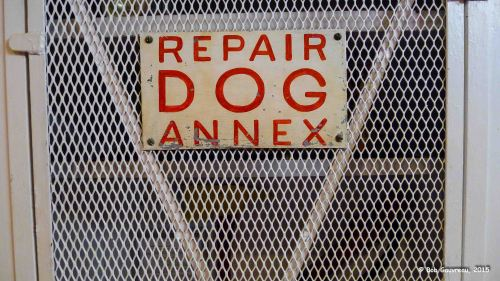Dog repair facility on the USS Alabama, in Mobile.  Charlie was beyond repair...