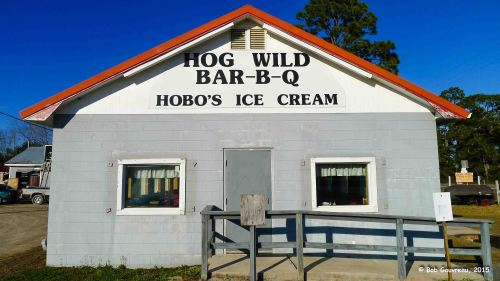 Hog Wild Ribs, near our place at the Ho-Hum RV Park, Carrabelle, FL.  Great place!