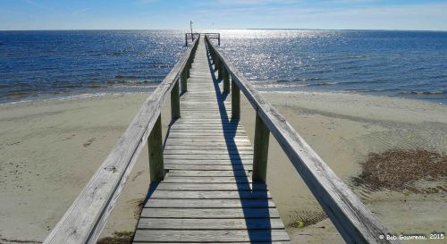 Fishing pier in near our site at the Ho-Hum RV Park, Carrabelle, FL.