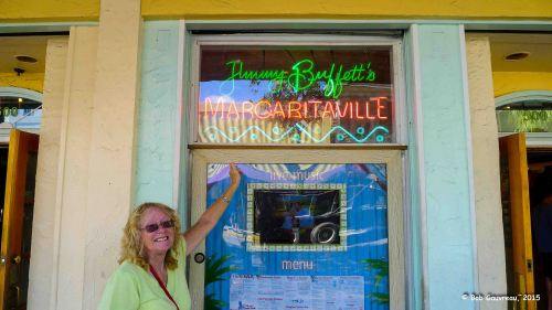 Outside Jimmy Buffett's Margaritaville, Key West, Florida.