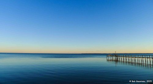 View from our site, Ho-Hum RV Park, Carrabelle, Florida