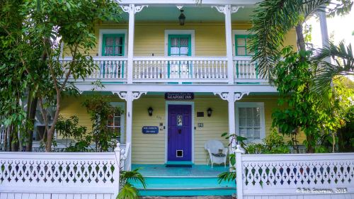 Front view of our B & B in Key West.
