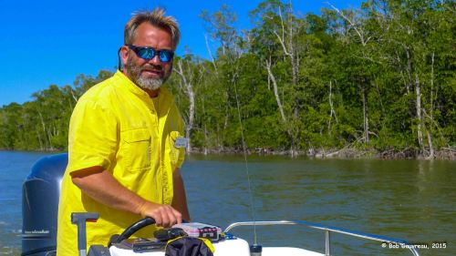 Our NPS tour guide, during a boat trip in the Everglades.  Cool guy, calm, laid back and we forgot his name...