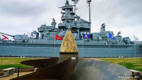 View of the USS 'Alabama,' in Mobile, Alabama.