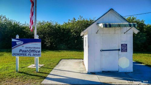 The smallest UP Post Office in the United States, Ocallal, Florida.