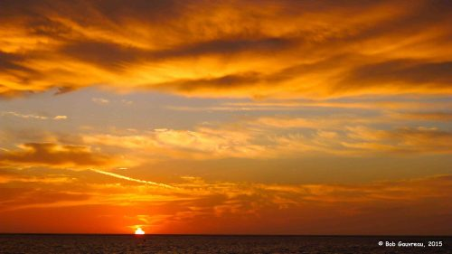 Sunrise, the morning we left the Ho-Hum RV Park in Carrabelle, FL.