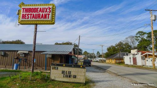 Thibodeaux's Restaurant in Duson, LA - we took a risk for dinner and it really paid off.  Great place.