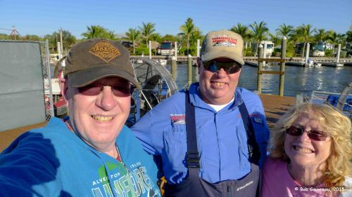 With Bobby, our Everglades airboat tour guide.