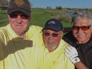 (Really) old golfing buddies: Bob, Juan and Bill.  We had a wonderful day playing together again at the Spanos Reserve Course in Lodi