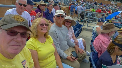 At a Mariners game - Bob, Dee Dee, Gary and Debbie