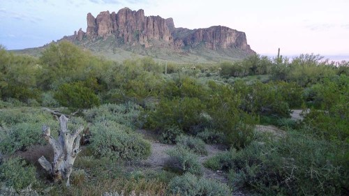 The end of the day, just after sunset, Superstition Mountains