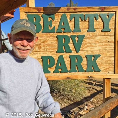 Mike, our delightful, friendly host at the Beatty RV Park ('Always $25 A Night').