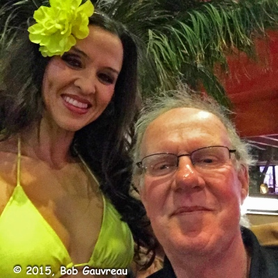 The Bob and his new friend, Adrian, the Margaritaville Girl, at Jimmy Buffet's