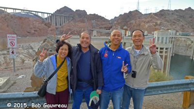Four Korean tourists, from LA, we met at Bould/Hoover Dam. Talk about FRIENDLY!