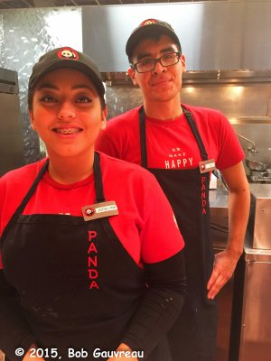 Jocelyn and Alex, our friendly servers at Panda Express, in Sam's Town Casino, Las Vegas
