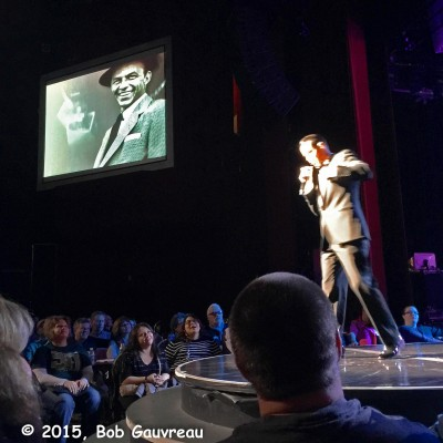 Frank Sinatra impersonator at 'Legends' show, Flamingo Hotel, Las Vegas